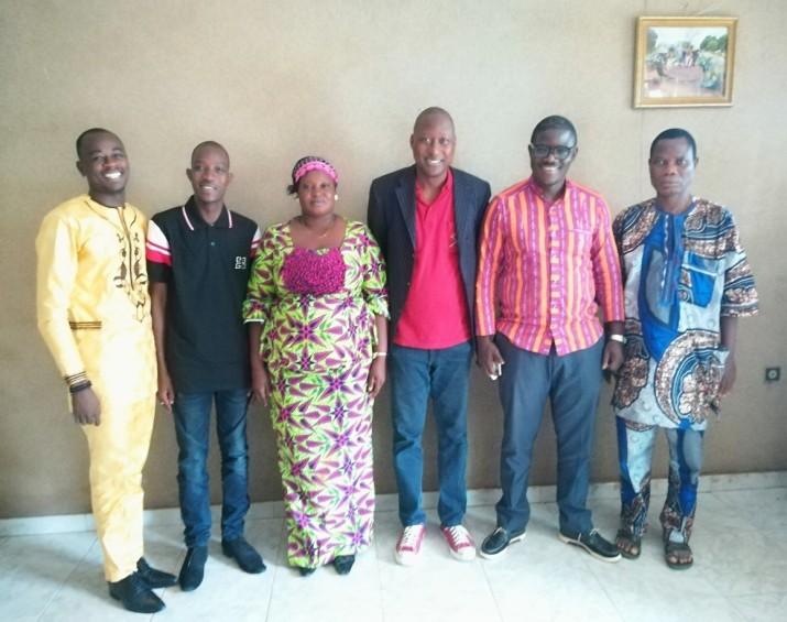 Les équipes du PARASEP et de l'AKB à Parakou